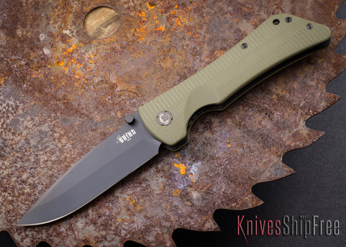 Southern Grind: Bad Monkey - Drop Point Black Blade - OD Green G-10 primary image