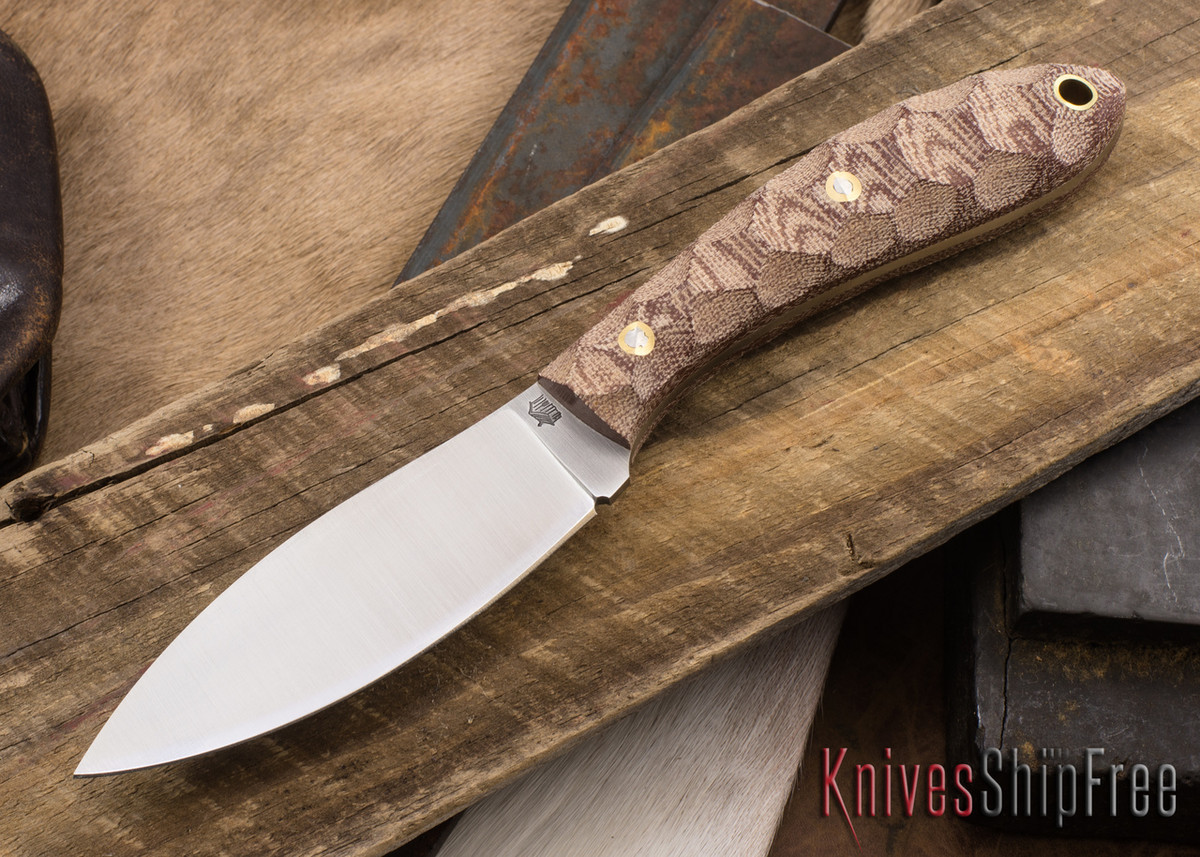 L.T. Wright Knives: Large Northern Hunter - Rustic Brown Mountain Micarta primary image