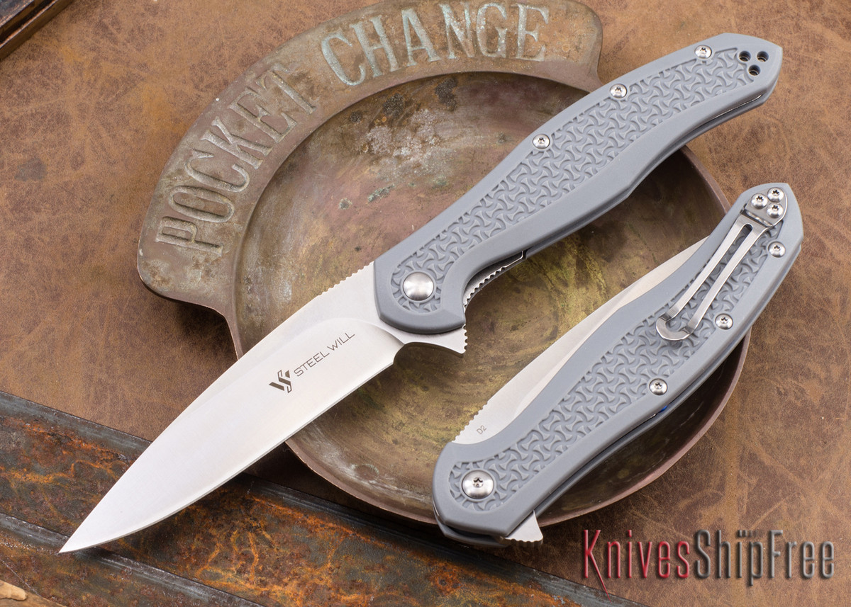 Steel Will Knives: Intrigue - Gray FRN - D2 Steel primary image