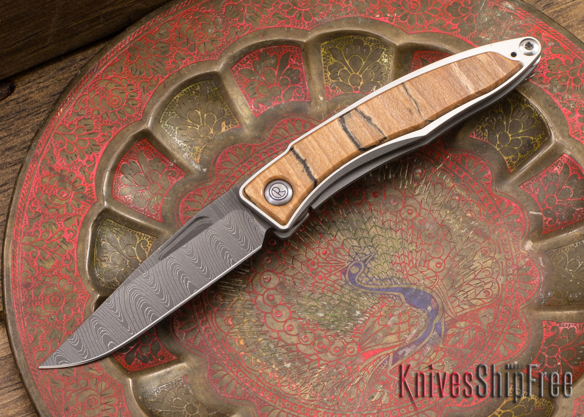 Chris Reeve Knives: Mnandi - Spalted Beech - Ladder Damascus - 040930 primary image