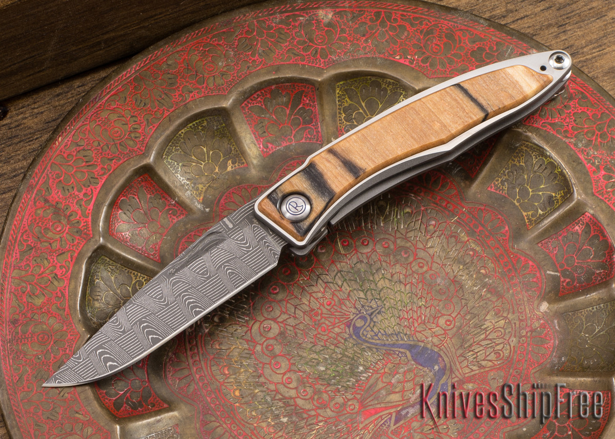Chris Reeve Knives: Mnandi - Spalted Beech - Basketweave Damascus - 040933 primary image