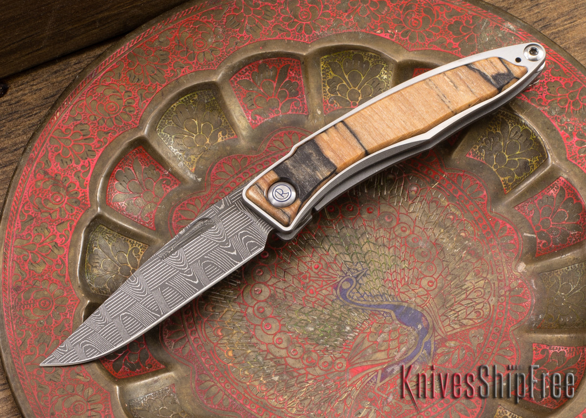 Chris Reeve Knives: Mnandi - Spalted Beech - Basketweave Damascus - 040934 primary image