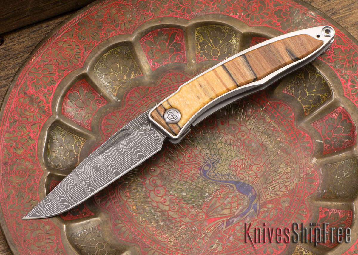 Chris Reeve Knives: Mnandi - Spalted Beech - Basketweave Damascus - 040936 primary image