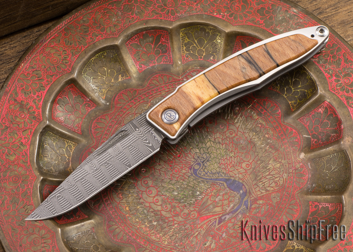 Chris Reeve Knives: Mnandi - Spalted Beech - Basketweave Damascus - 040937 primary image