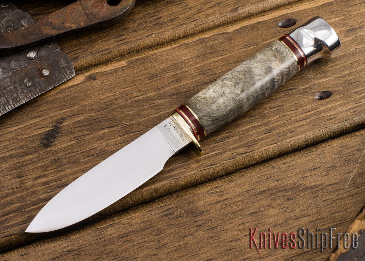 Hess Knifeworks: Muley - Buckeye Burl - HK09DD017 primary image