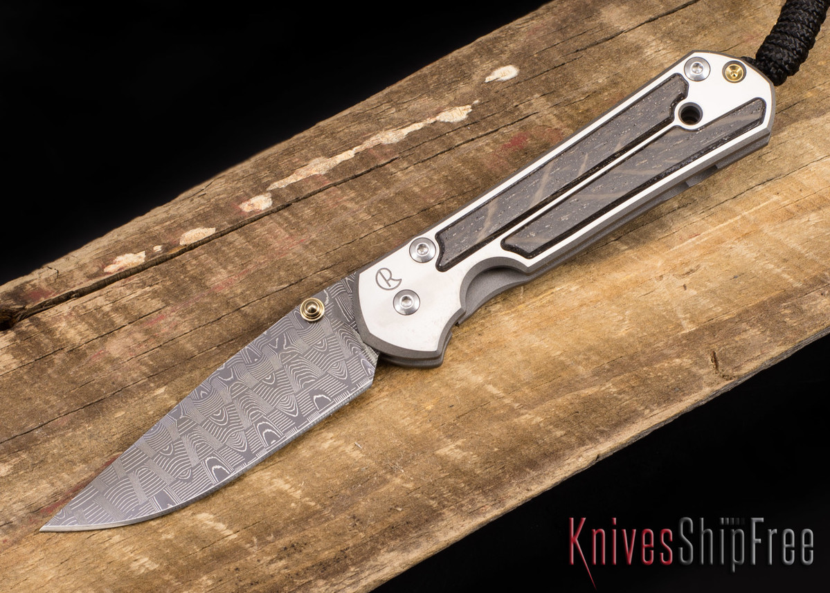 Chris Reeve Knives: Small Sebenza 21 - Bog Oak - Basketweave Damascus - 041007 primary image