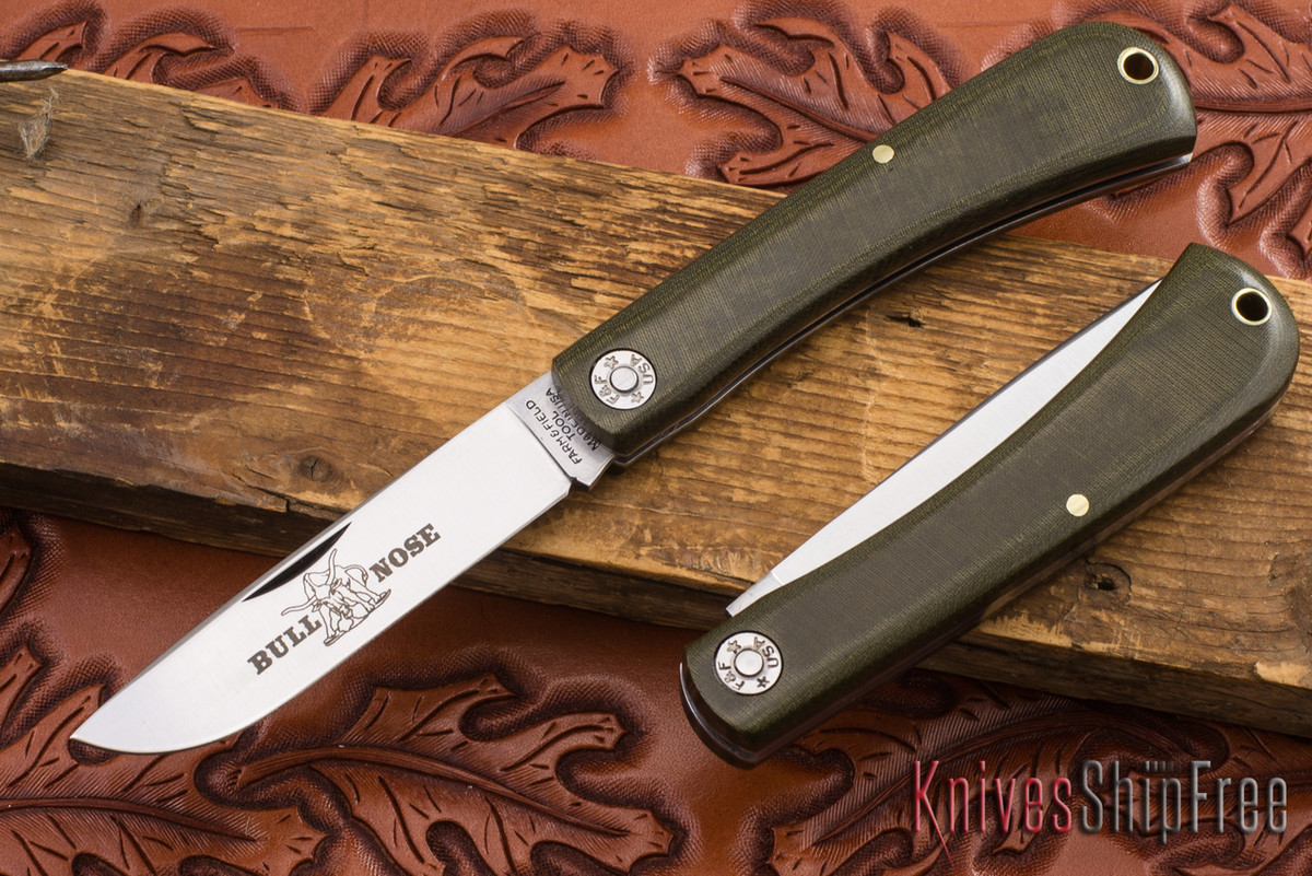 Great Eastern Cutlery: #71 Farm & Field - Bullnose - OD Green Linen Micarta primary image