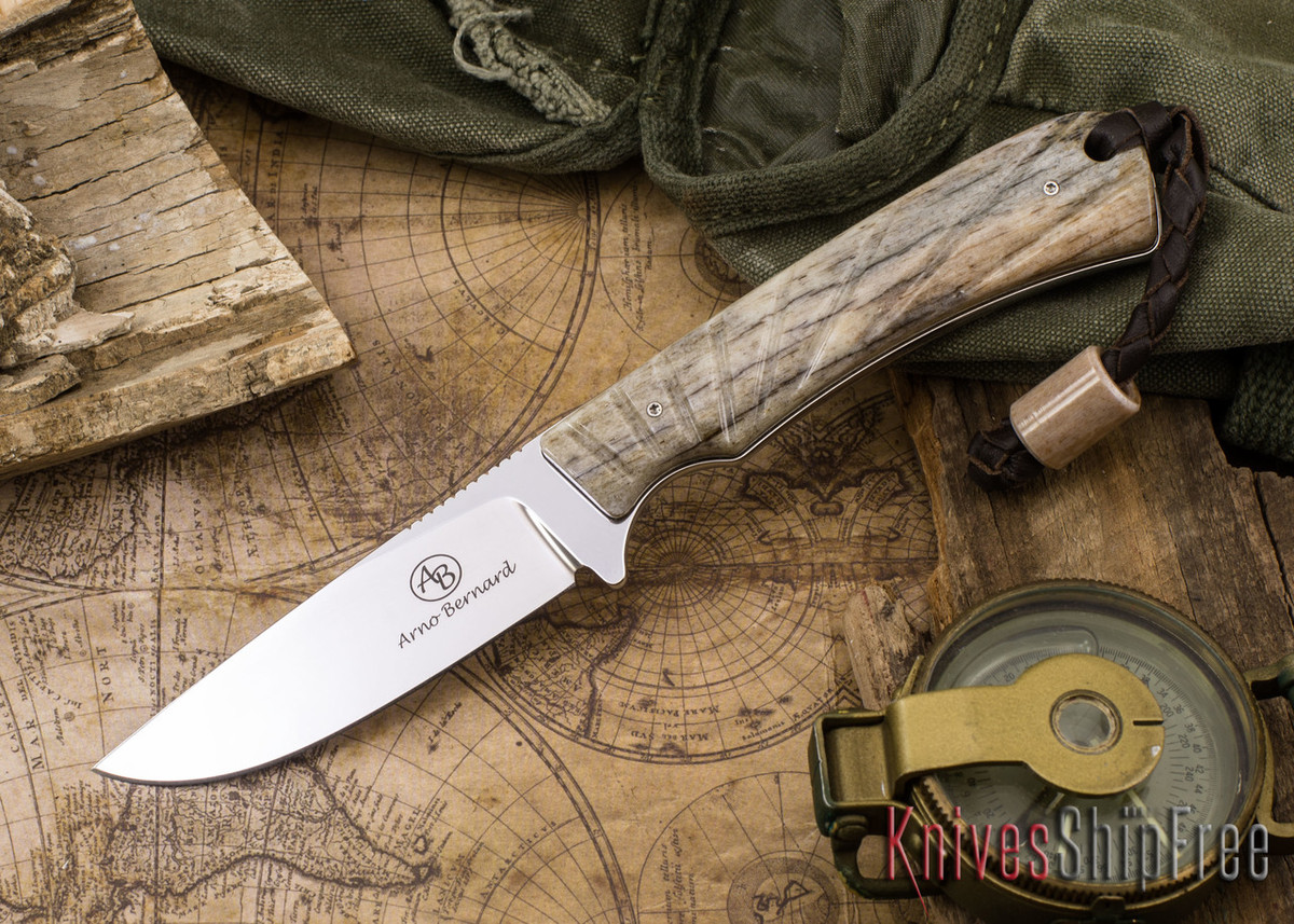 Arno Bernard Knives: Badger - Giraffe Bone 10