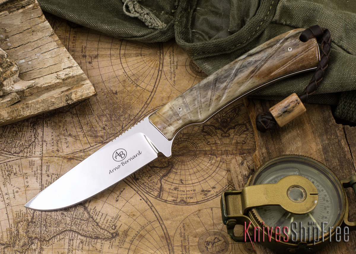 Arno Bernard Knives: Badger - Giraffe Bone 12