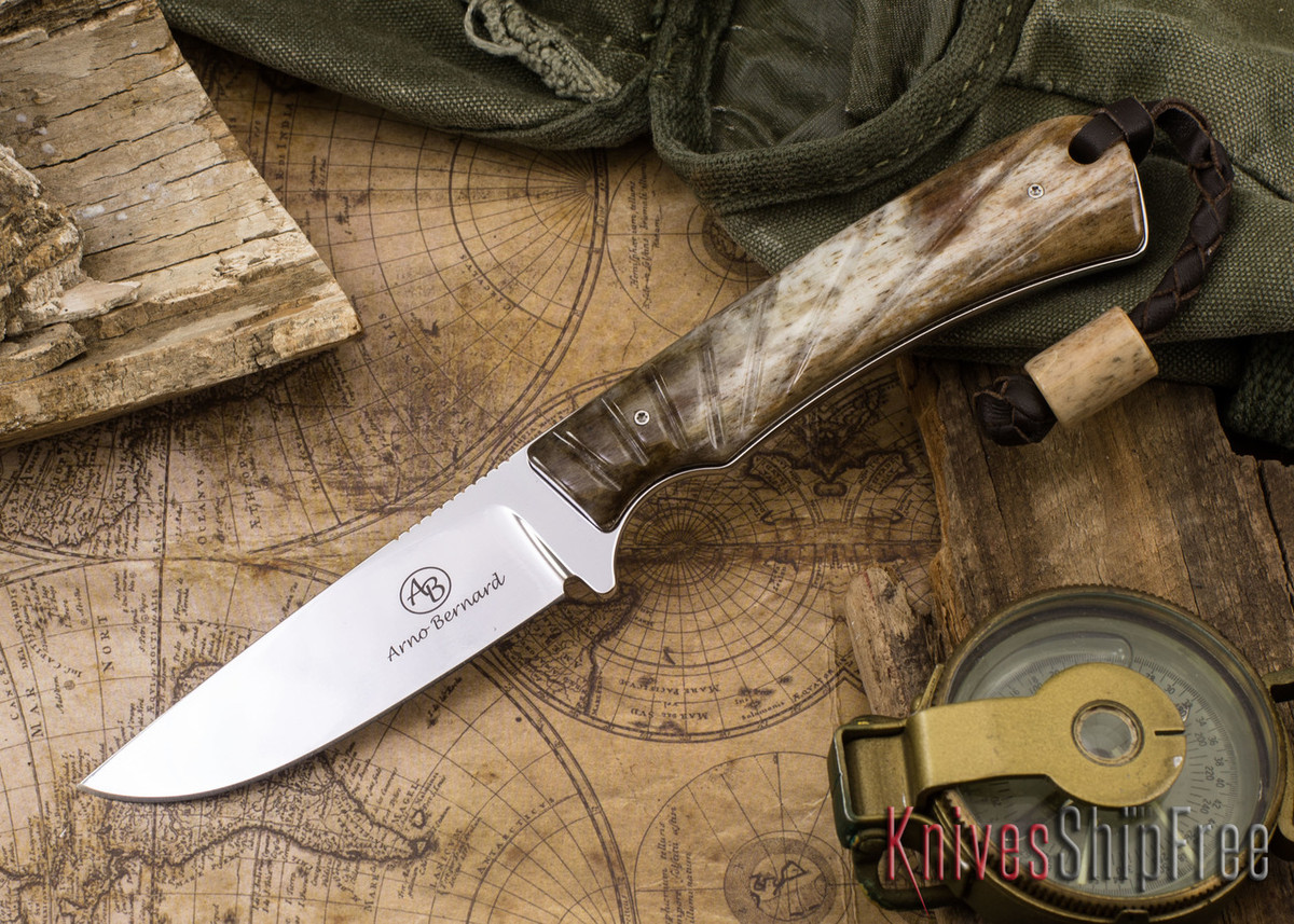 Arno Bernard Knives: Badger - Giraffe Bone 13 primary image