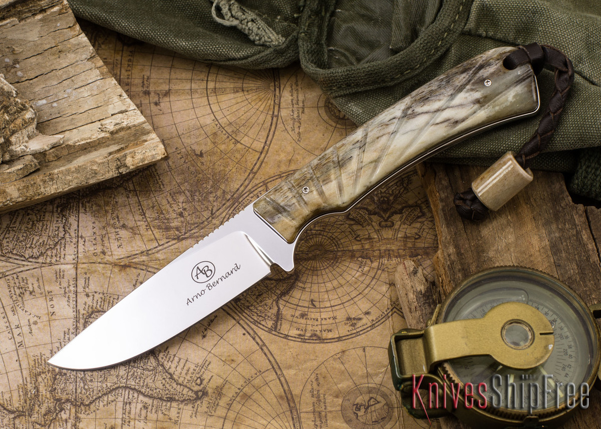 Arno Bernard Knives: Badger - Giraffe Bone 14 primary image