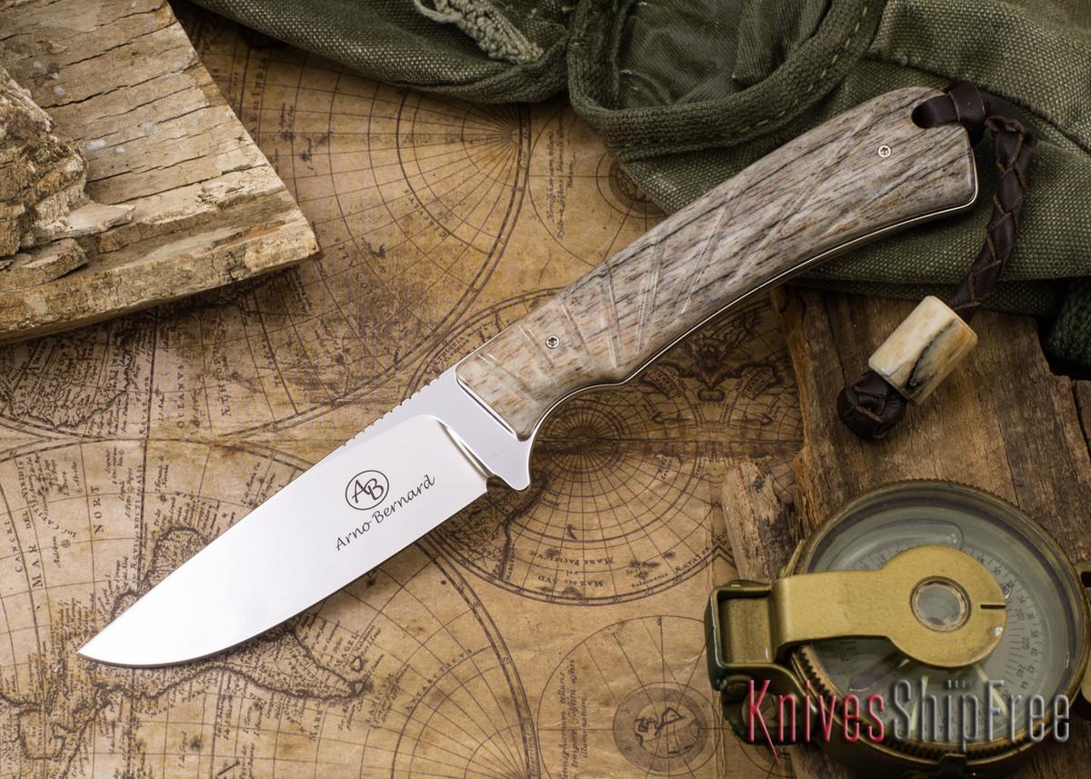 Arno Bernard Knives: Badger - Giraffe Bone 17 primary image
