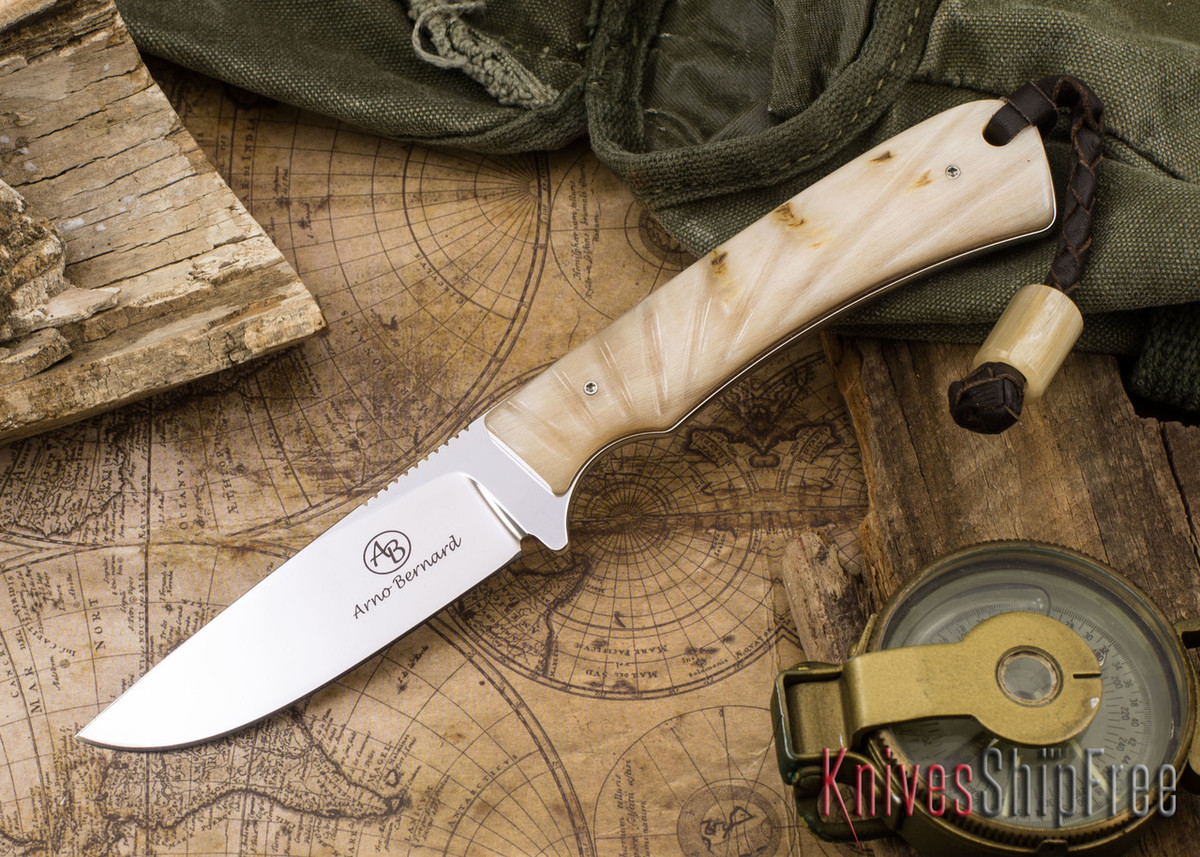 Arno Bernard Knives: Badger - Sheep Horn 01 primary image