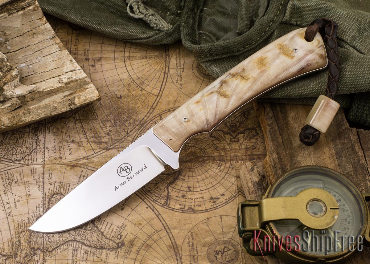 Arno Bernard Knives: Badger - Sheep Horn 04 primary image