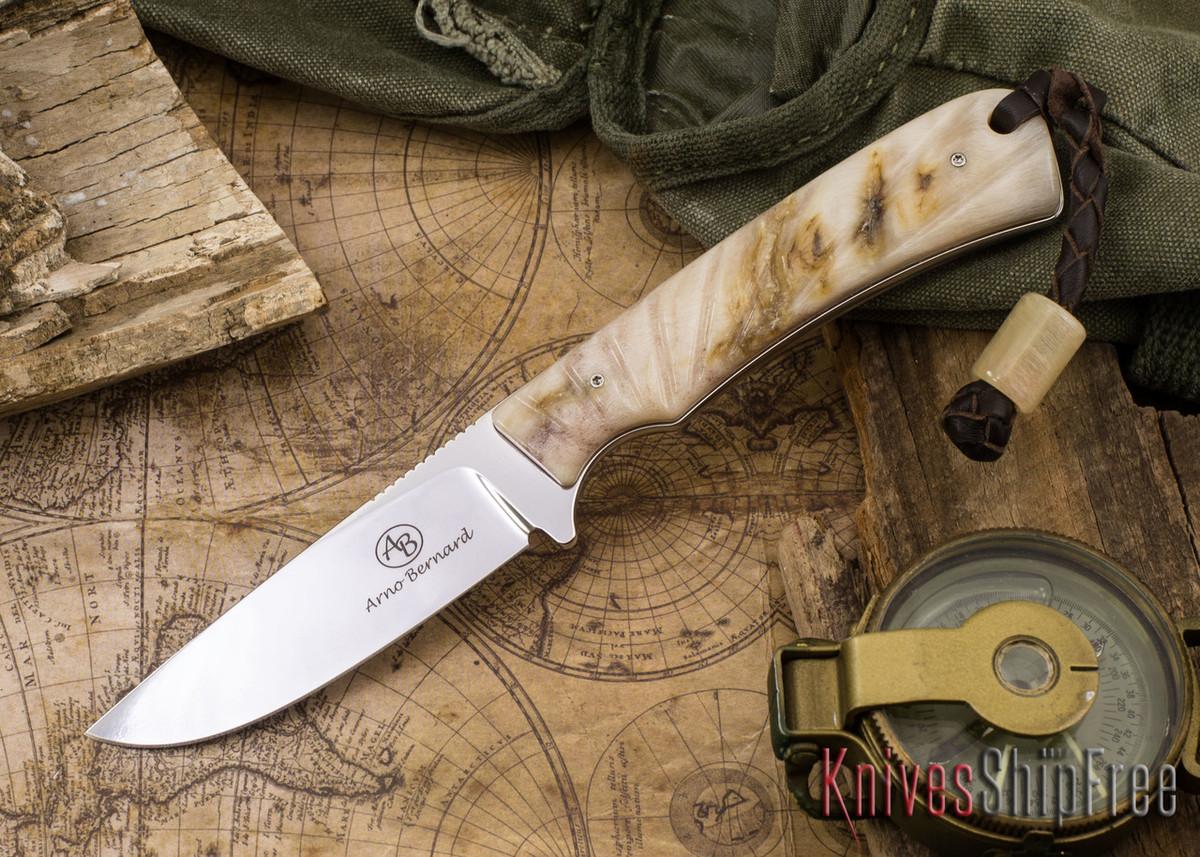 Arno Bernard Knives: Badger - Sheep Horn 08 primary image
