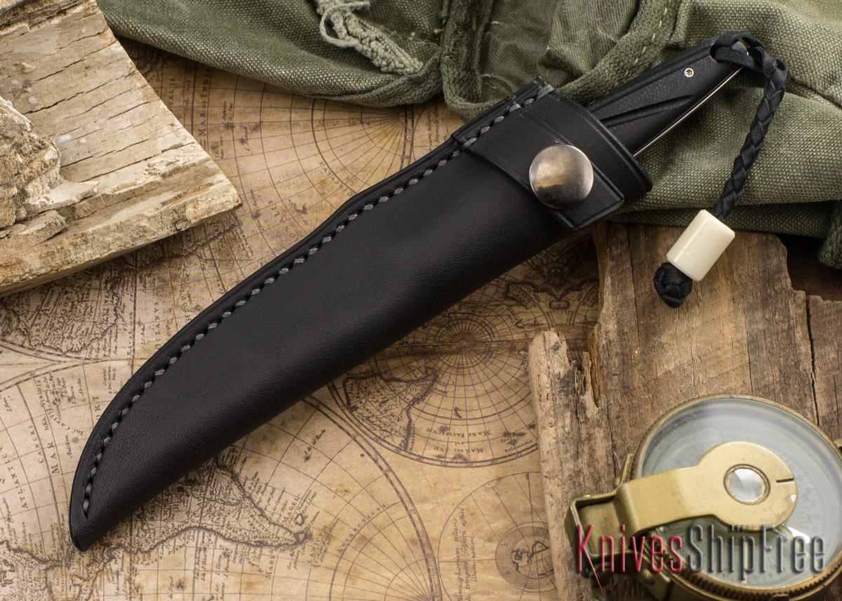 Arno Bernard Knives: Bateleur - Black G-10
