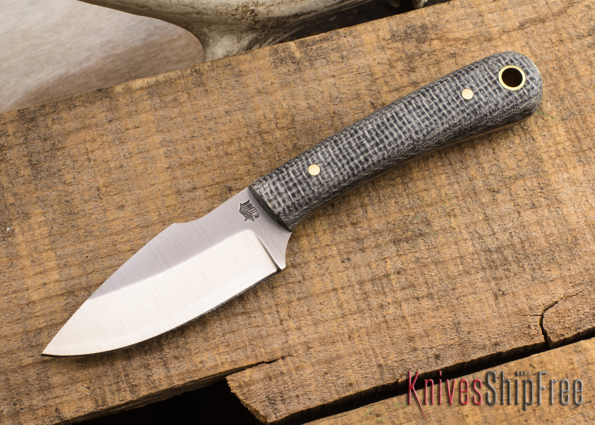 L.T. Wright Knives: Great Plainsman - Oreo Burlap Micarta - D2 Steel - Saber Grind primary image