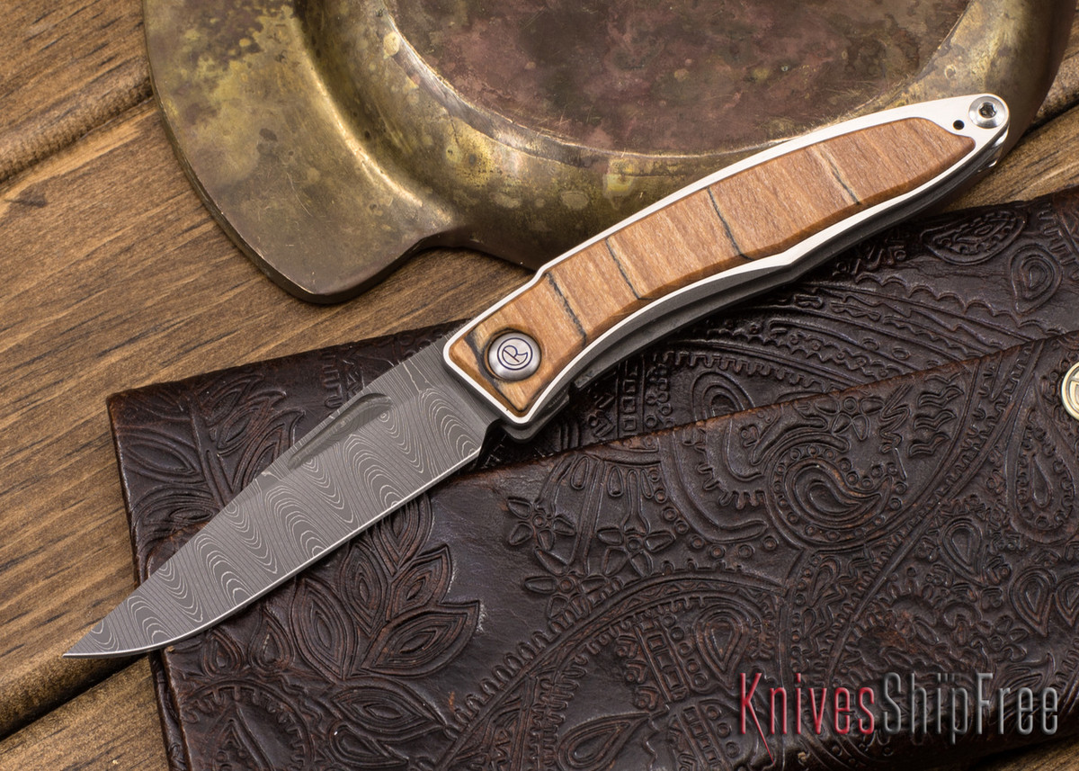 Chris Reeve Knives: Mnandi - Spalted Beech - Ladder Damascus - 050503 primary image