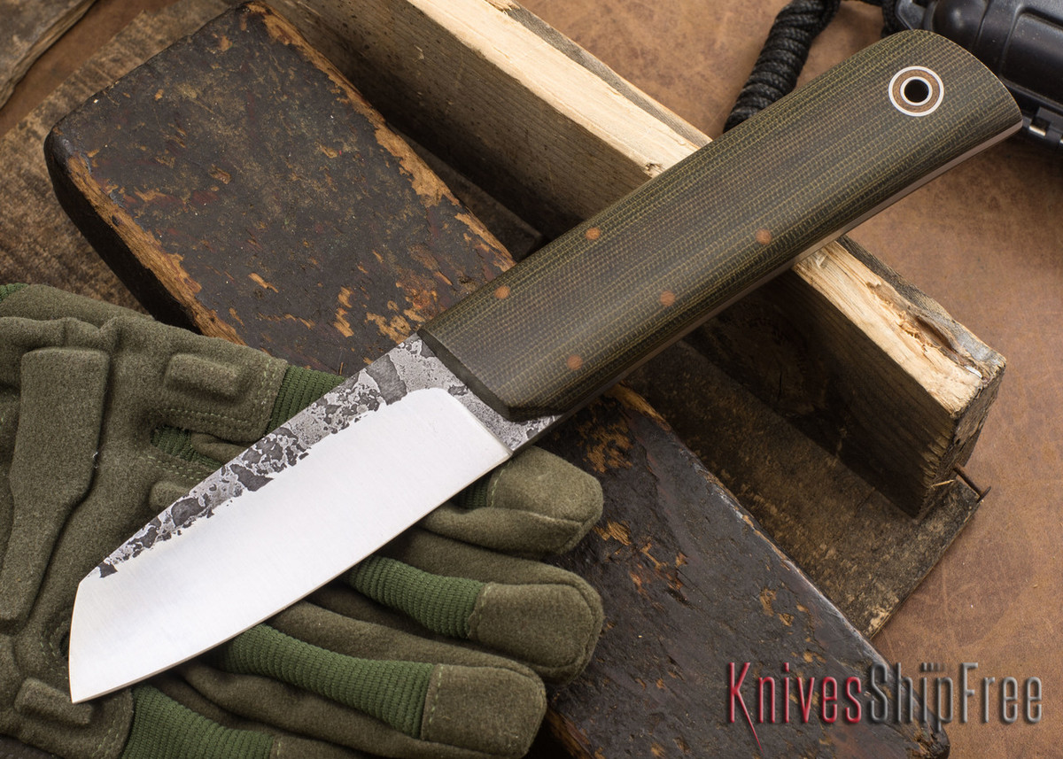 Fiddleback Forge: Chief - OD Canvas Micarta - A2 Tool Steel - FF10ED005 primary image