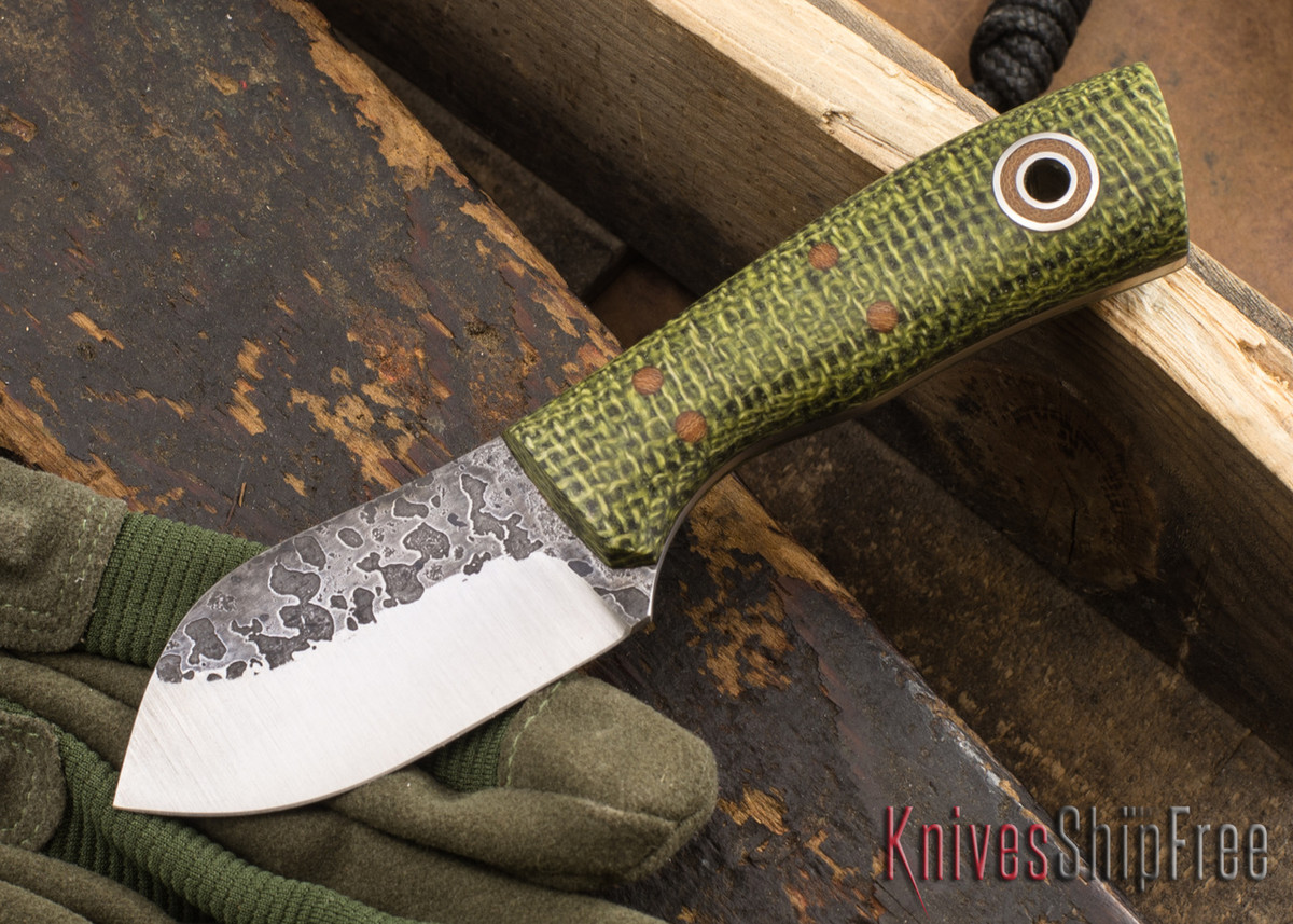 Fiddleback Forge: Neckmuk - Evergreen Burlap - A2 Tool Steel - FF10ED008