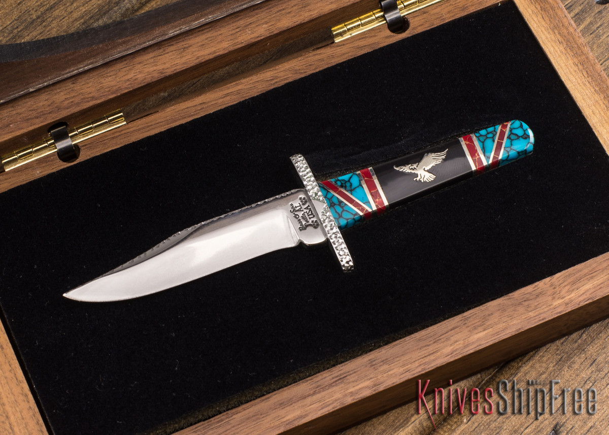 Bear & Son Cutlery: David Yellowhorse Custom - Sacred Eagle Bowie - Serial #017 primary image