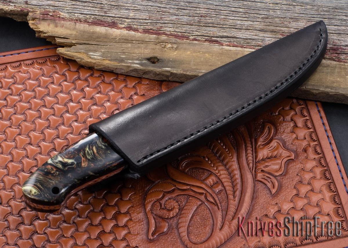 Joe Loui Knives: Small Bushcraft - White Russian Scales - 053109