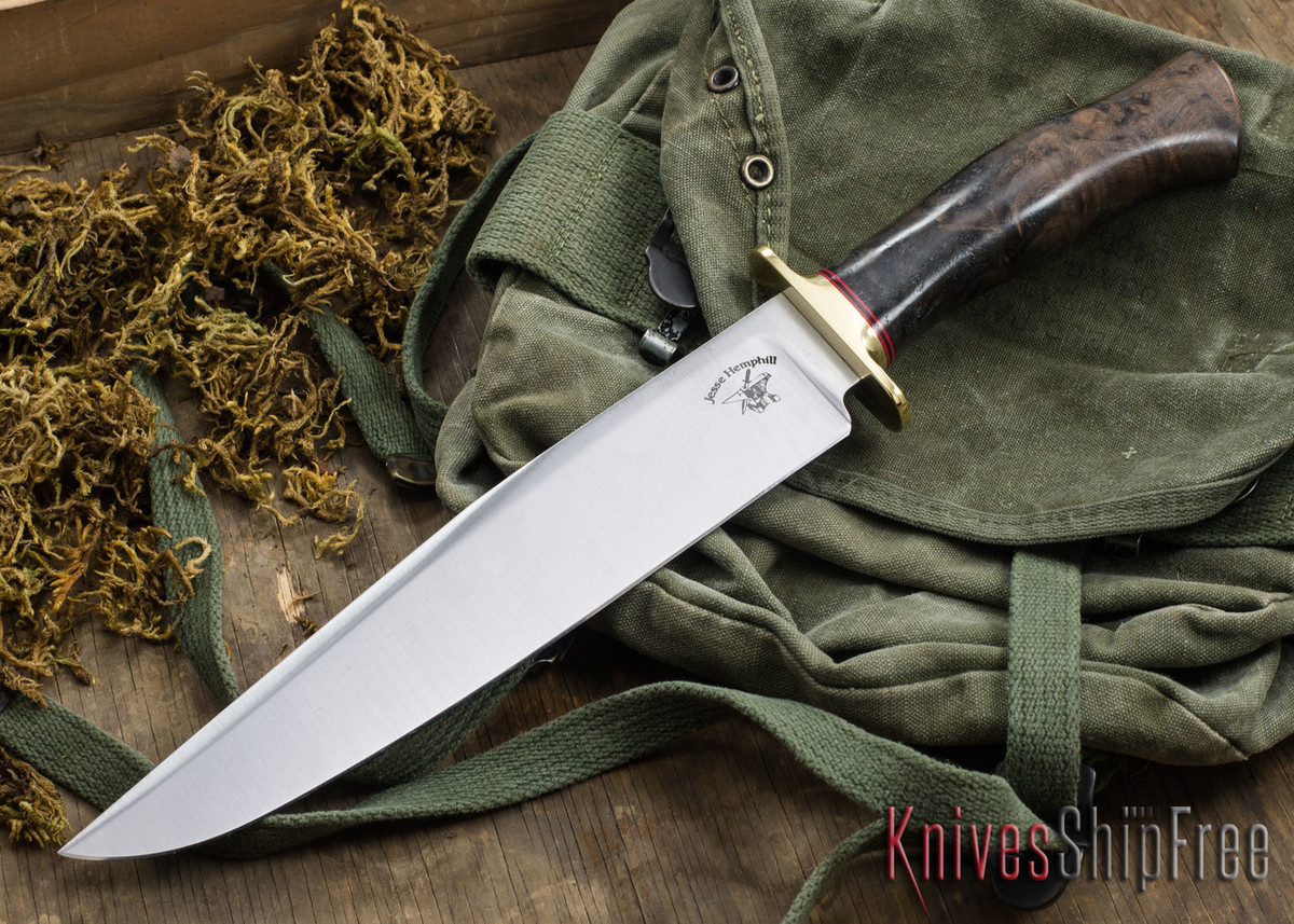 Jesse Hemphill Knives: Bowie - Redwood Burl #1 primary image