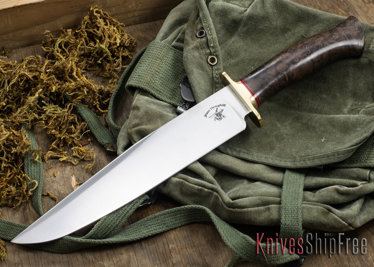 Jesse Hemphill Knives: Bowie - Redwood Burl #2 primary image