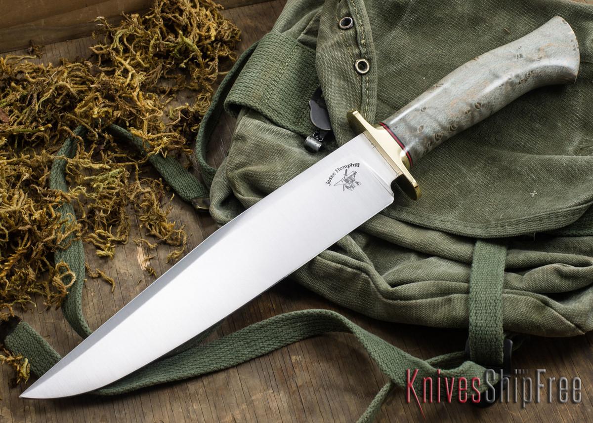 Jesse Hemphill Knives: Bowie - Gray Birdseye Maple primary image