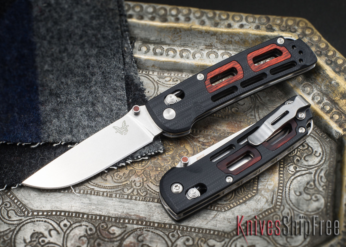 Benchmade Knives: 486 Saibu - Nakamura Design - Black G-10 - Stabilized Cocobolo Inlays - CPM-20CV primary image