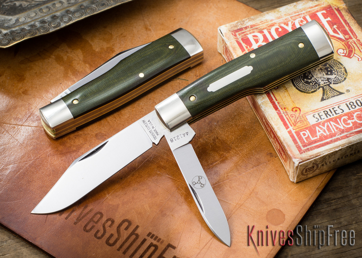 Great Eastern Cutlery: #44 Tidioute - Buffalo Jack - OD Green Linen Micarta primary image