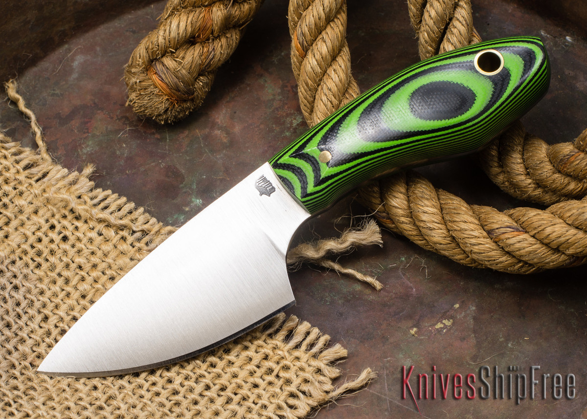 L.T. Wright Knives: JX3 - Green & Black G-10 primary image