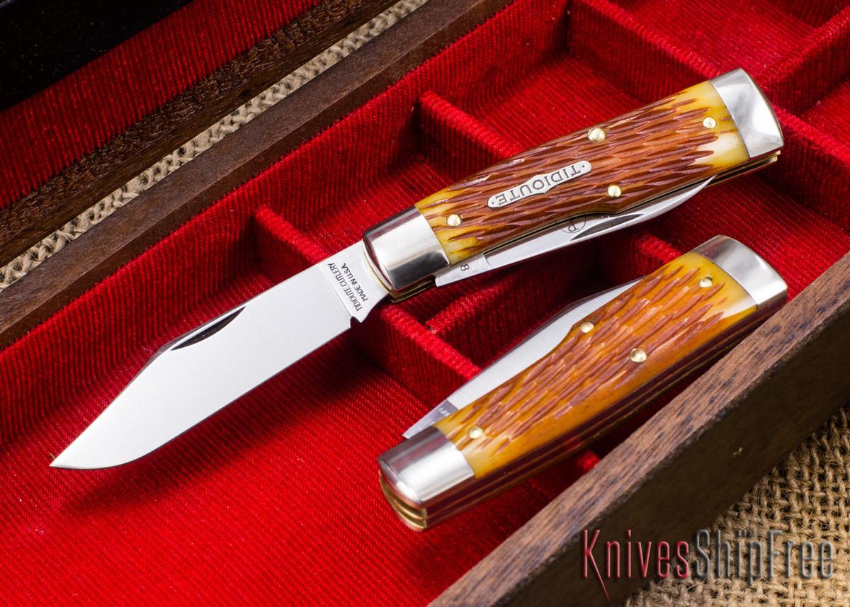 Great Eastern Cutlery: #44 Tidioute - Buffalo Jack - Goldenrod Jigged Bone primary image