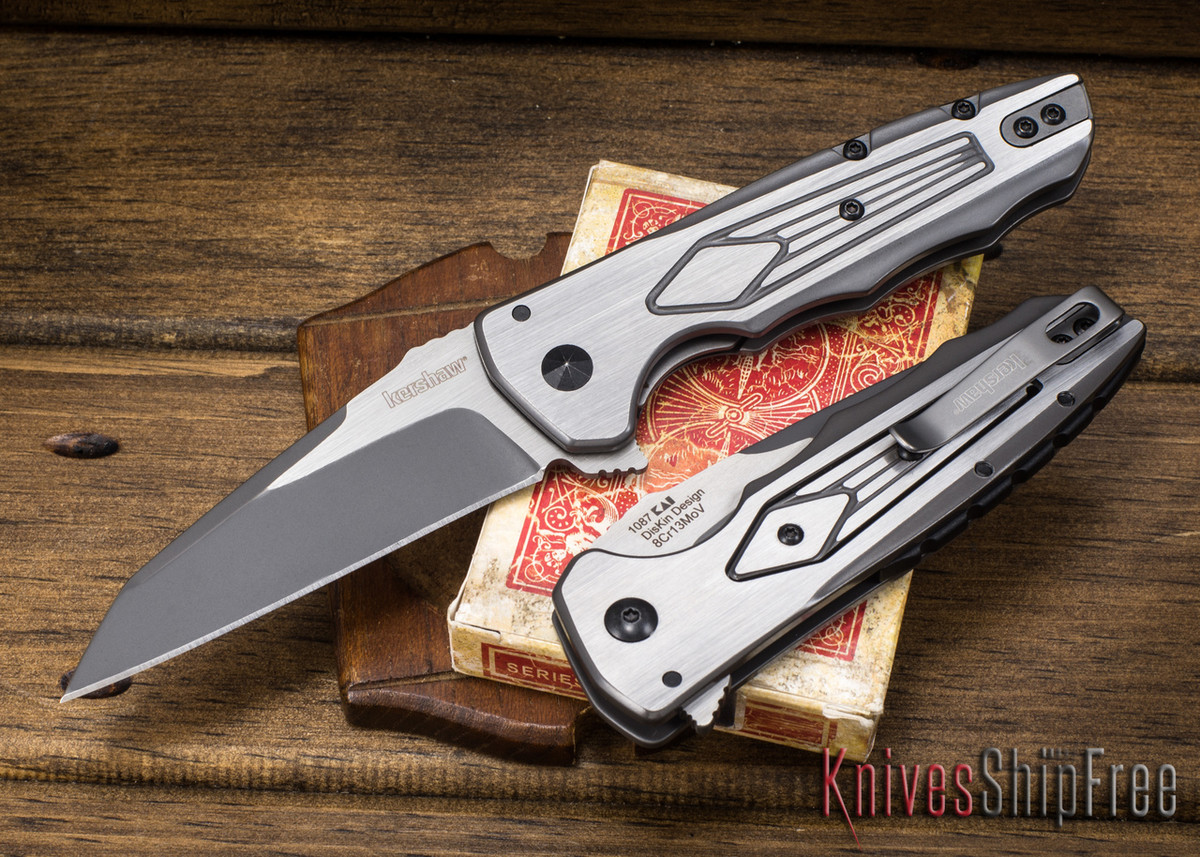 Kershaw Knives: Deadline - Two-Tone Finish - KVT Bearings - Tuned Detent System - 1087 primary image