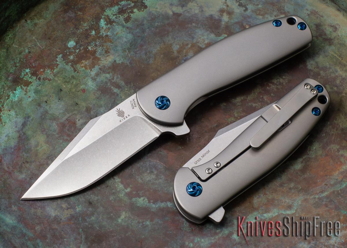 Kizer Cutlery: Ursa Minor - Titanium Framelock - CPM-S35Vn primary image