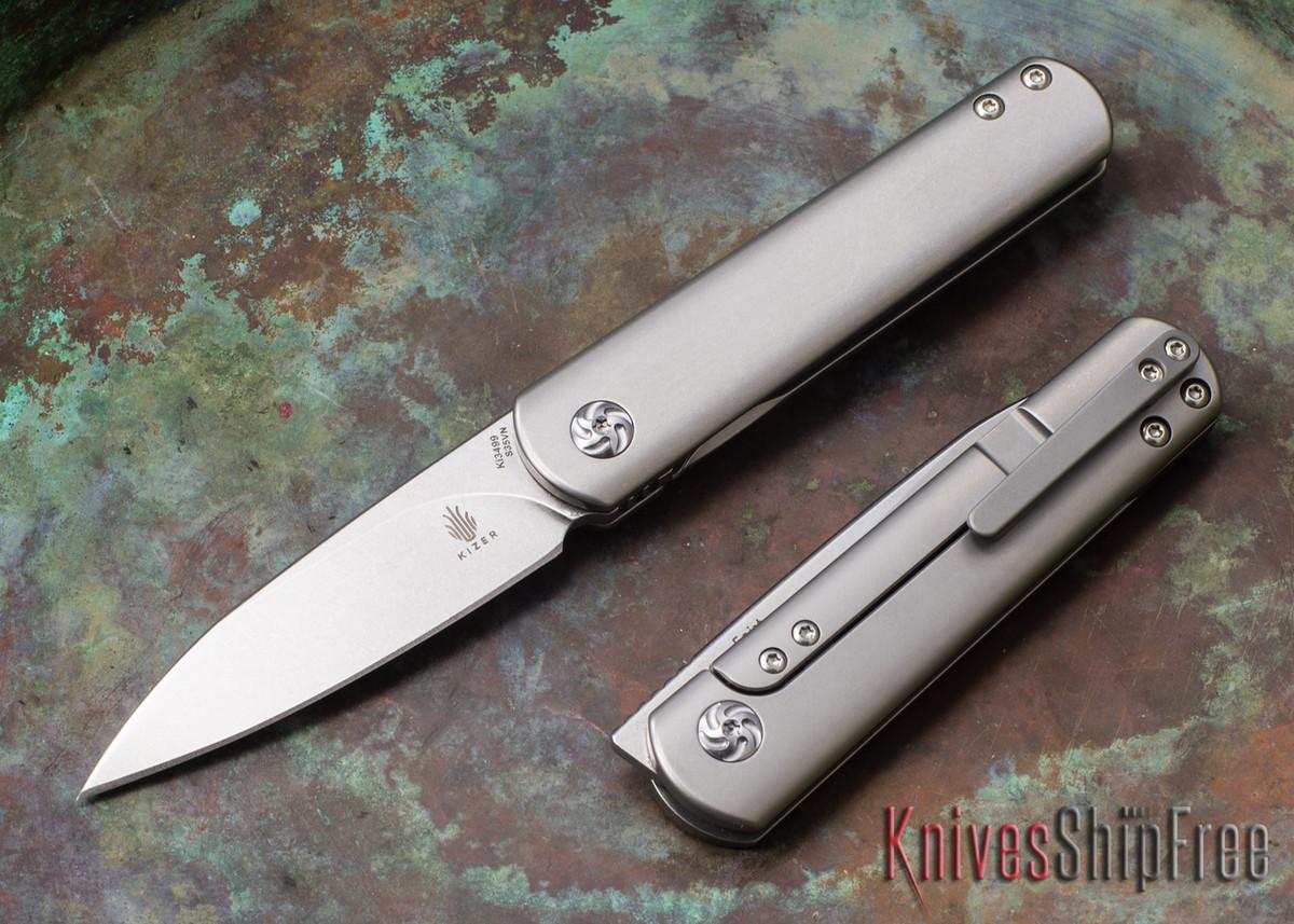Kizer Cutlery: Feist - Front Flipper - Titanium Framelock - CPM-S35Vn primary image