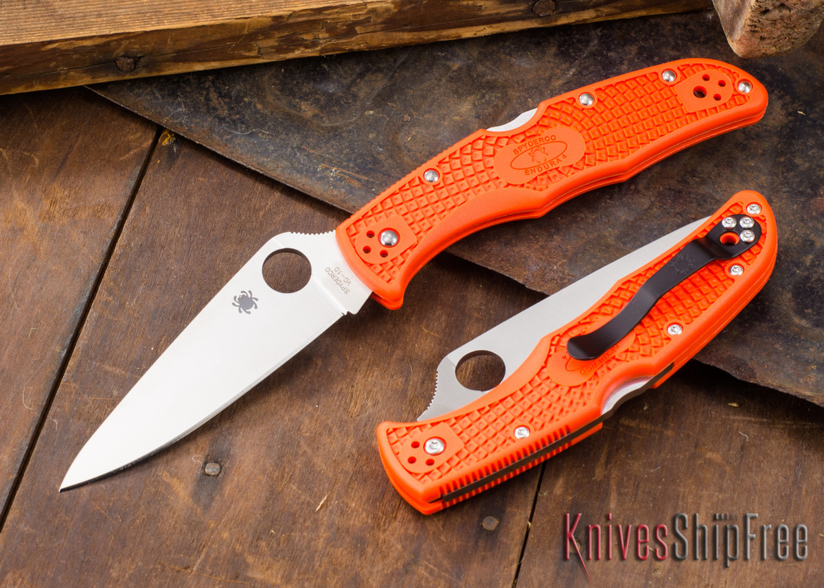 Spyderco: Endura 4 - Orange FRN - VG-10 - C10FPOR primary image