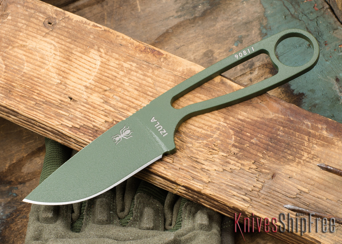 ESEE Knives: Izula - Neck Knife - OD Green primary image
