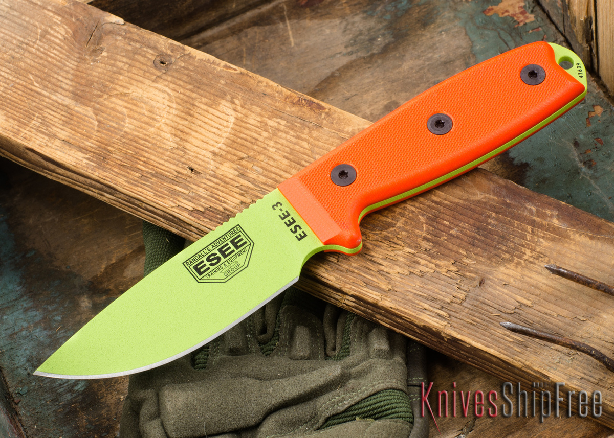 ESEE Knives: ESEE-3PM-VG - Venom Green primary image
