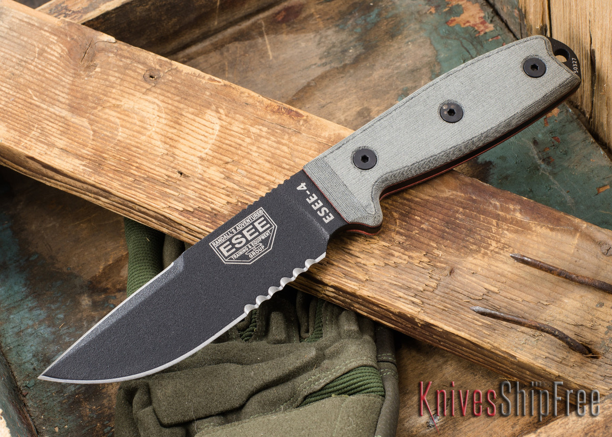 ESEE Knives: ESEE-4S-CP - Black Clip Point primary image