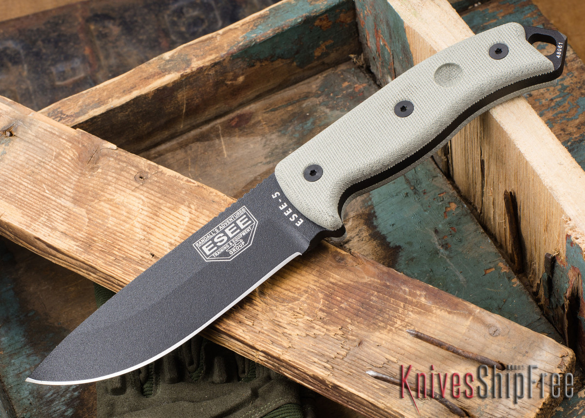 ESEE Knives: ESEE-5P - Black primary image