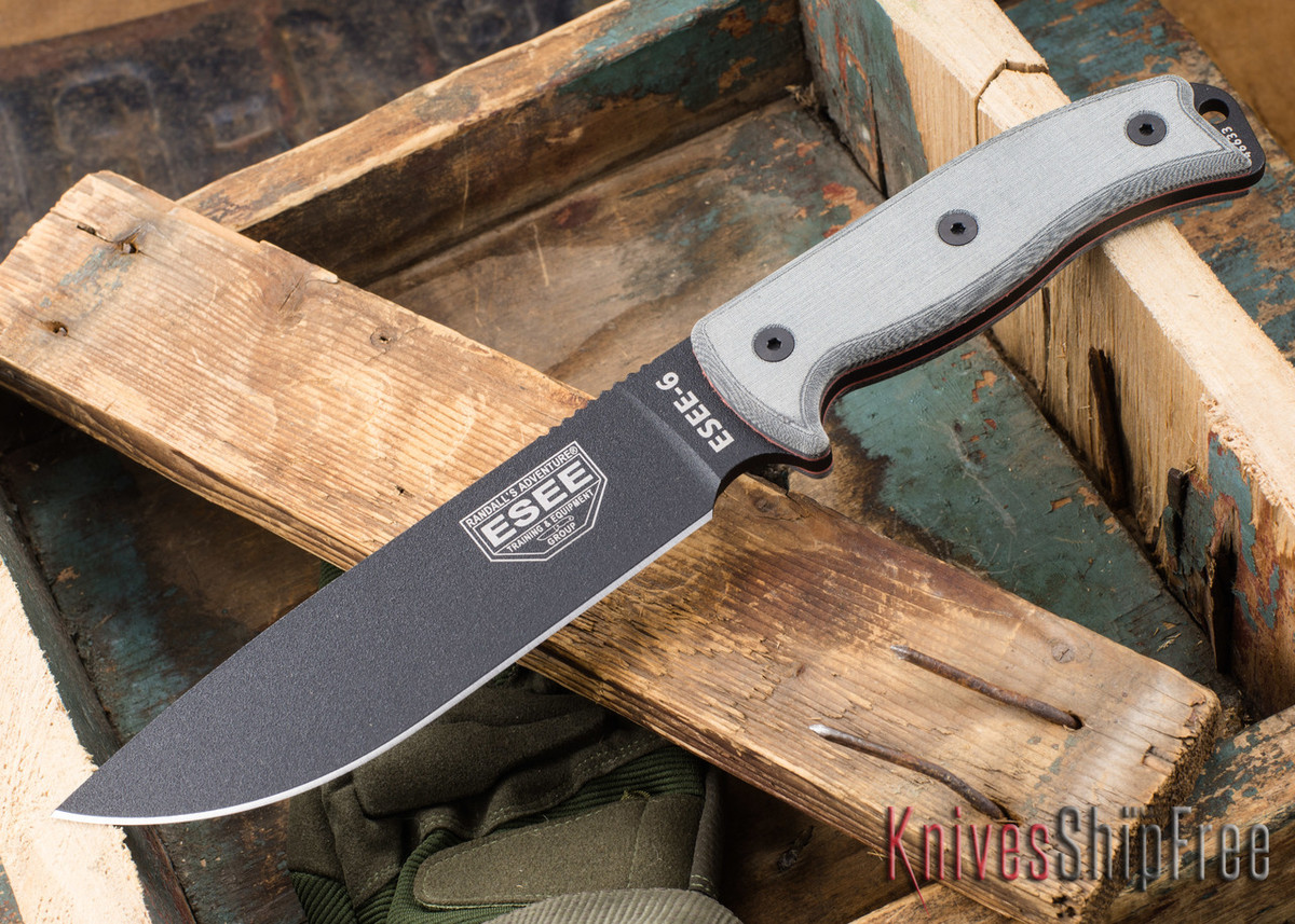 ESEE Knives: ESEE-6P-B - Black primary image
