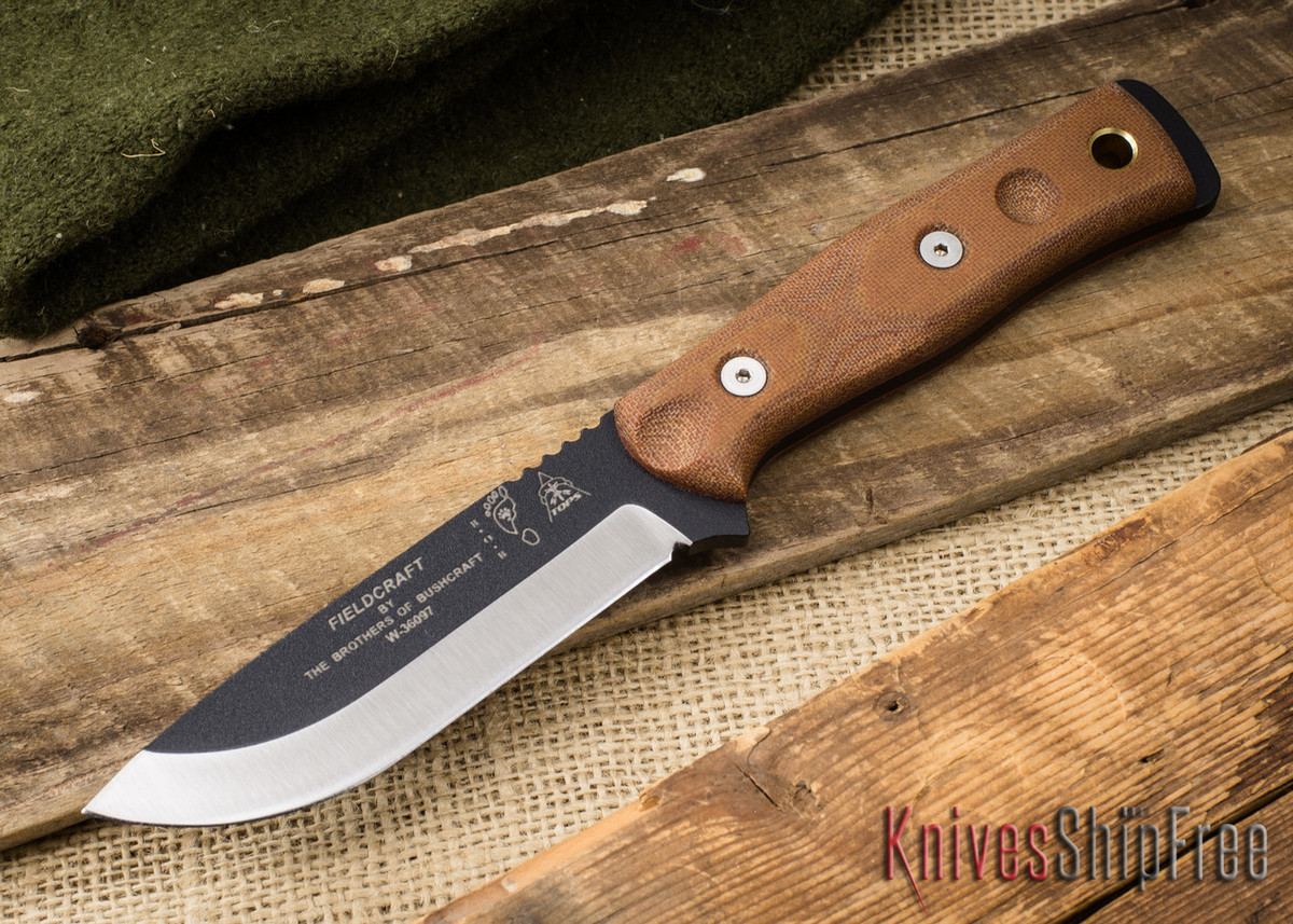 TOPS Knives: Fieldcraft by Brothers of Bushcraft - Tan Canvas Micarta primary image