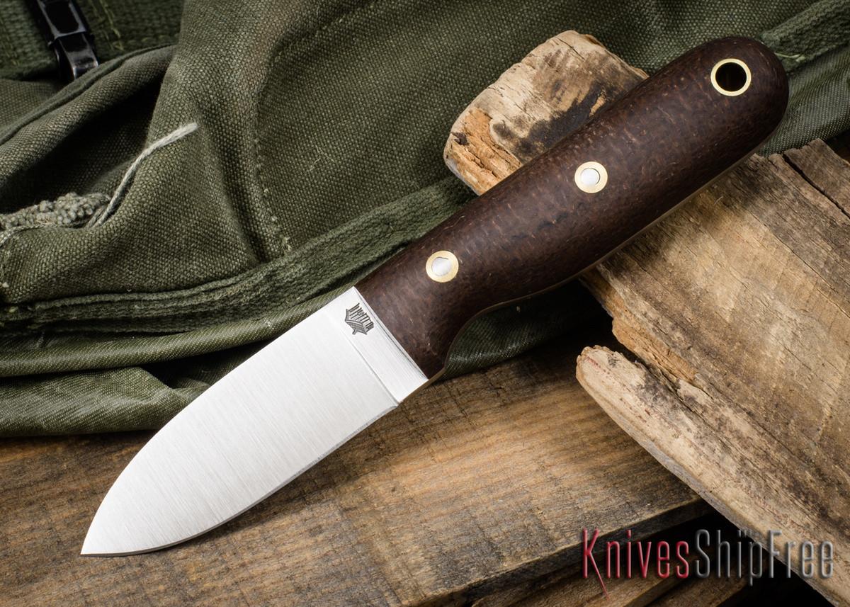 L.T. Wright Knives: Bushbaby 3V - Burlap Micarta - Matte - Flat Ground primary image