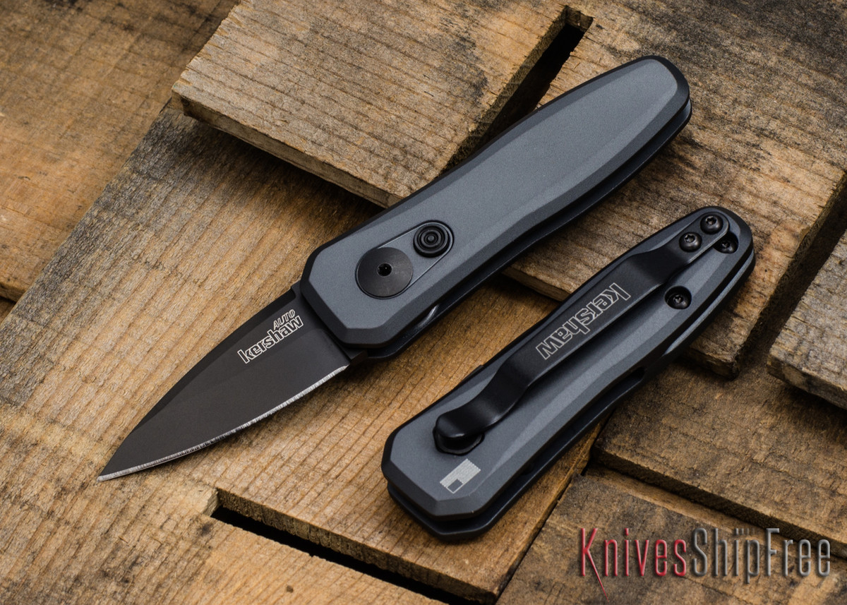 Kershaw Knives: Launch 4 - Gray w/ Black Blade - 7500GRY primary image