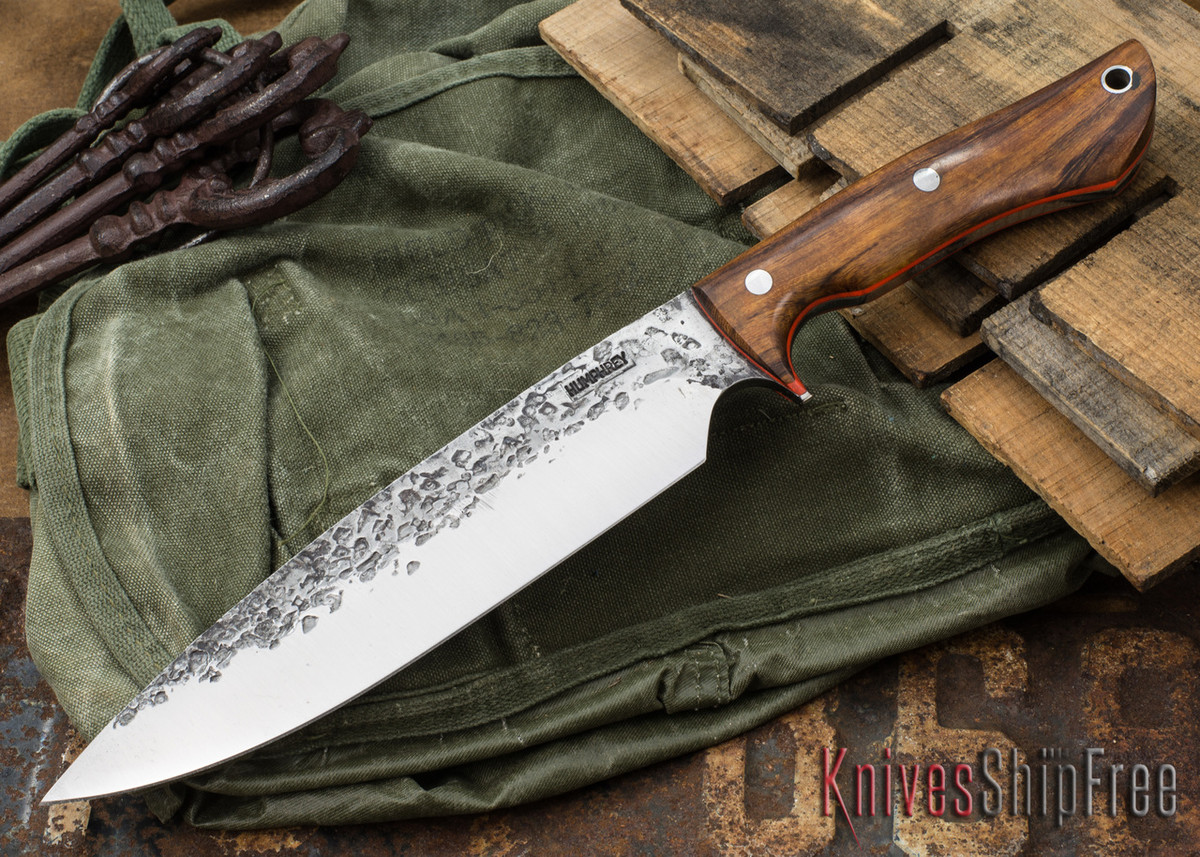 Lon Humphrey Knives: Ranger - Desert Ironwood - Orange Liners - 066