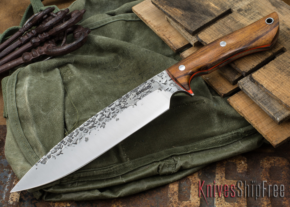 Lon Humphrey Knives: Ranger - Desert Ironwood - Orange Liners - 067 primary image