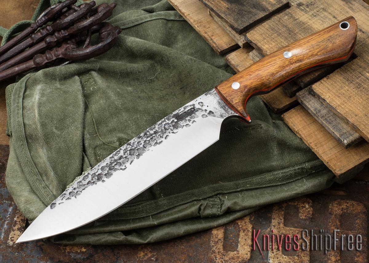 Lon Humphrey Knives: Ranger - Desert Ironwood - Orange Liners - 068 primary image