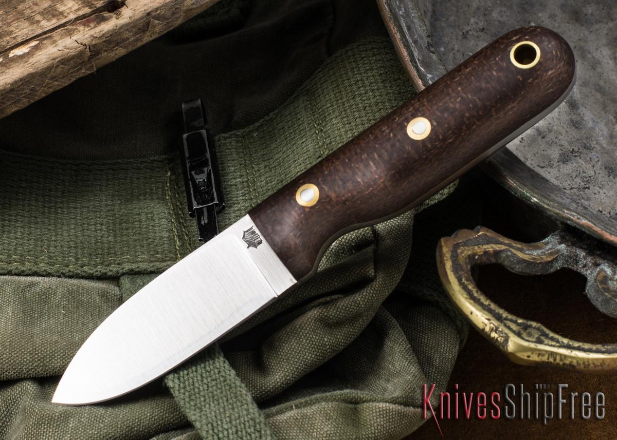 L.T. Wright Knives: Bushbaby 3V - Burlap Micarta - Matte - Scandi Ground primary image