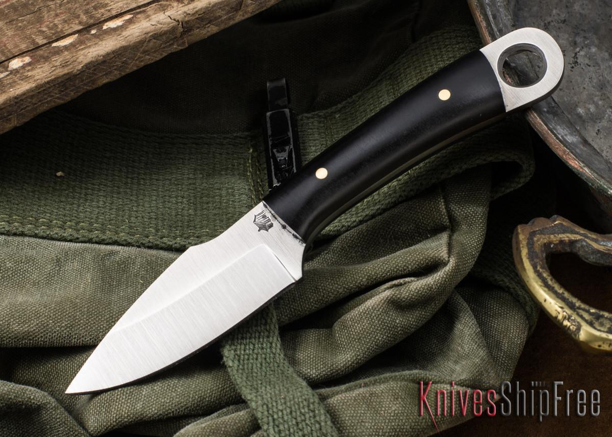 L.T. Wright Knives: Stealth - Saber Ground D2 - Black Micarta Matte - Kydex Sheath primary image